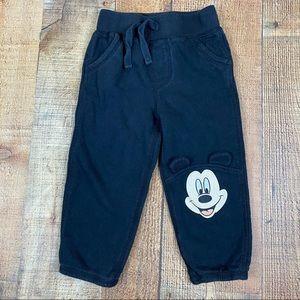 Disney Mickey Mouse Black Jogger Sweatpants